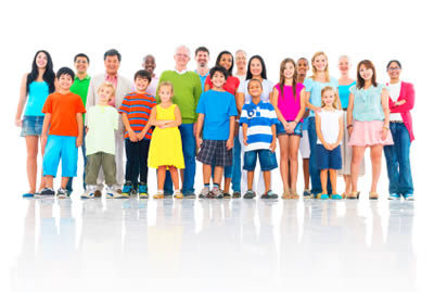 Group of people of various ages and ethnicities
