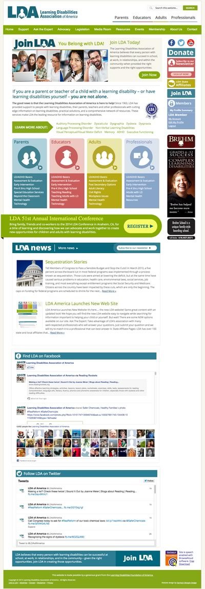 LDA New Website Screen Shot