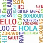 Hello in different languages word cloud image