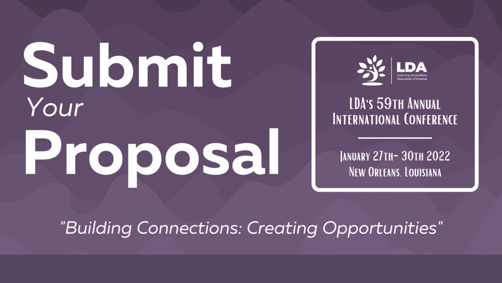 """Submit your Proposal! """"Building Connections: Creating Opportunities."""""""